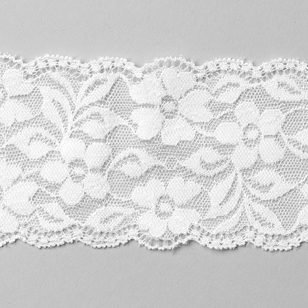 c542cad374 Stretch Lingerie Lace  60mm  - white - Elastic Laces   Frillsfavorable  buying at our shop
