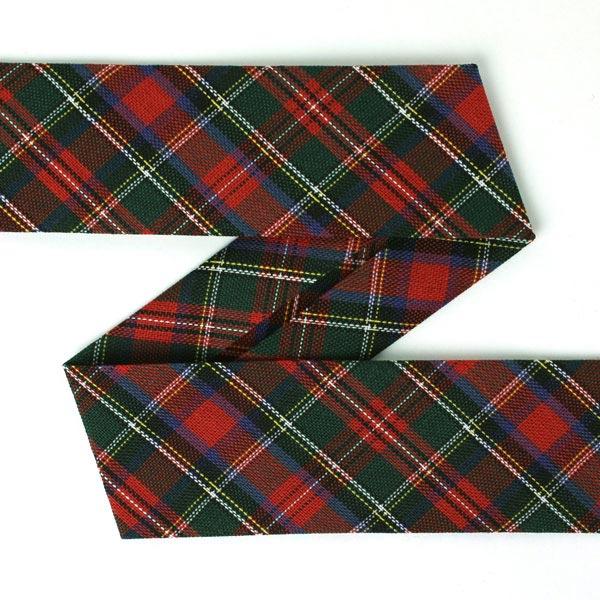Schrägband Schottenkaro