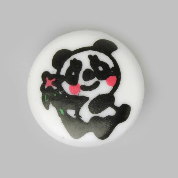 Kunststoffknopf Pandabär