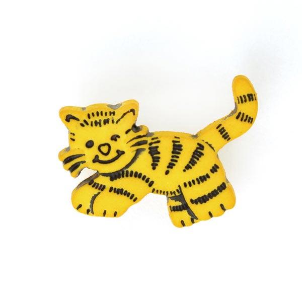 Kunststoffknopf Tiger 4
