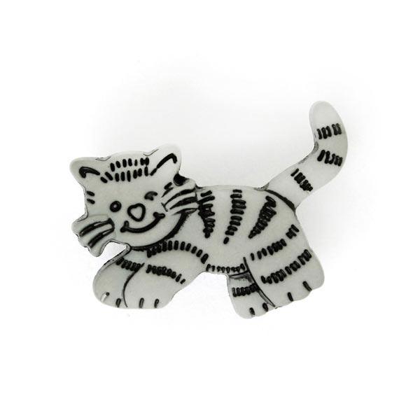 Kunststoffknopf 'Tiger'