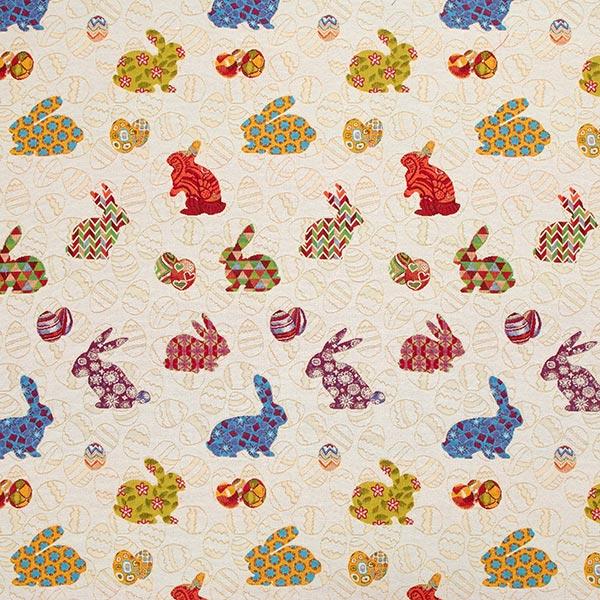 Žakárový gobelín Barevní velikonoční zajíčci - Gobelínové látky ... 1cfb6d75f1c