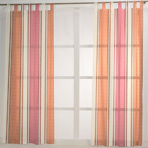 organza teseo 2 terre cuite tissus pour rideaux au m tre. Black Bedroom Furniture Sets. Home Design Ideas