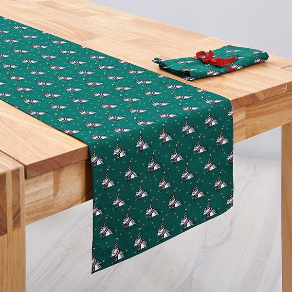 Tessuto in cotone cretonne unicorno verde rico design for Tavolo unicorno