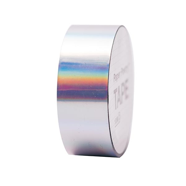 Holographic Tape irisierend 1 | RICO DESIGN - silber