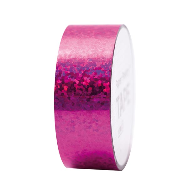 Holographic Tape Punkte 6 | RICO DESIGN - pink
