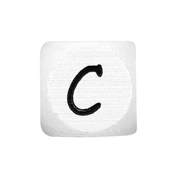 Holzbuchstaben C – weiß   Rico Design