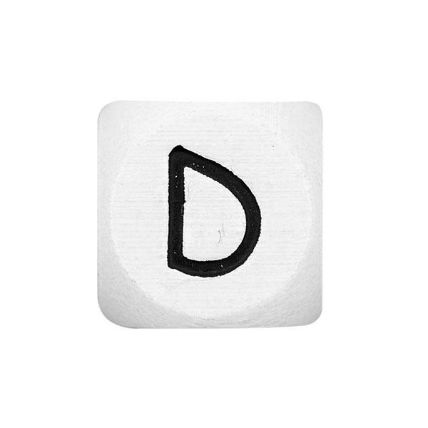 Holzbuchstaben D – weiß   Rico Design