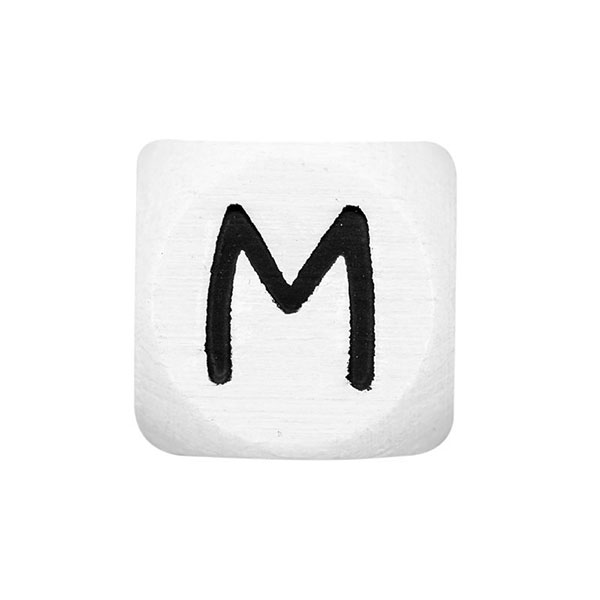 Holzbuchstaben M – weiß   Rico Design