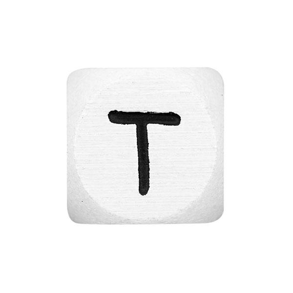 Holzbuchstaben T – weiß   Rico Design