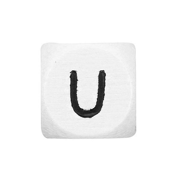 lettres alphabet en bois u blanc rico design autres. Black Bedroom Furniture Sets. Home Design Ideas