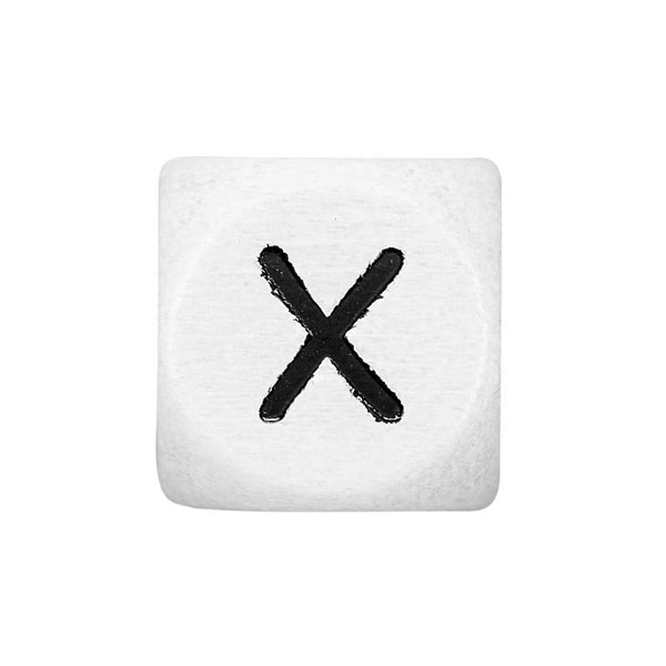 Holzbuchstaben X – weiß   Rico Design