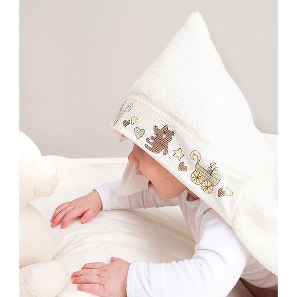 badetuch mit kapuze 80 x 70 cm wollweiss rico. Black Bedroom Furniture Sets. Home Design Ideas