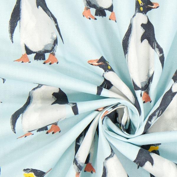 panama penguin 2 hellblau maritime dekostoffe. Black Bedroom Furniture Sets. Home Design Ideas