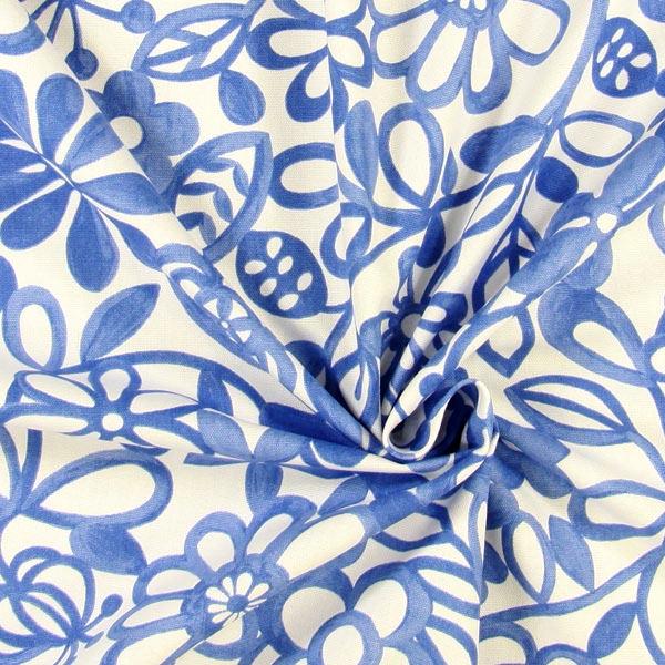... Collette 5 - bianco - Art Print - Tessuti arredo a fiori - tessuti.com