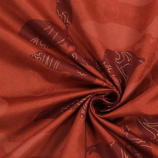 Tissu d coration peau de p che mer de feuilles 1 tissus de d coration prix r duit - Tissu peau de peche ...