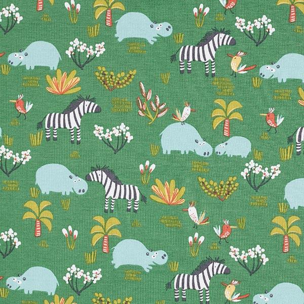 Grüner Baumwolljersey für Kinderkleidung