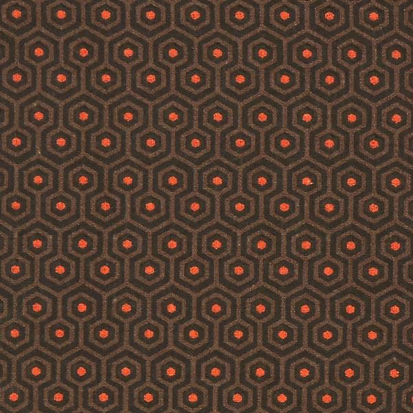 Cretonne Labyrinth Alven – braun – Muster