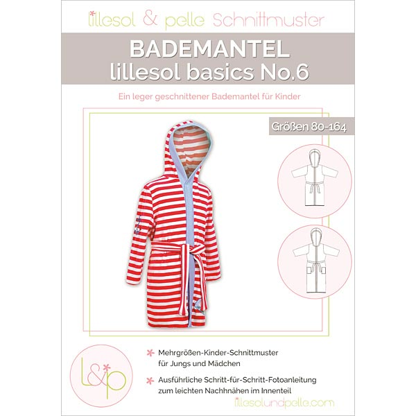 Bademantel, Lillesol & Pelle No. 6 | 80 - 164 - Schnittmuster Baby ...