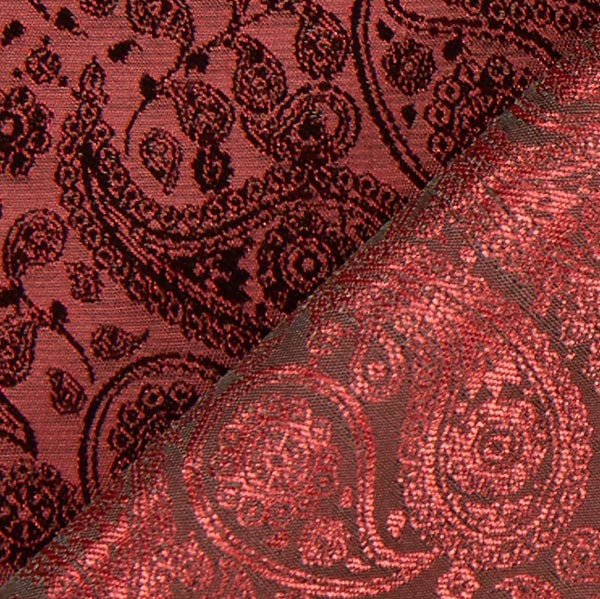 futterstoff jacquard paisley rot futterstoffe. Black Bedroom Furniture Sets. Home Design Ideas