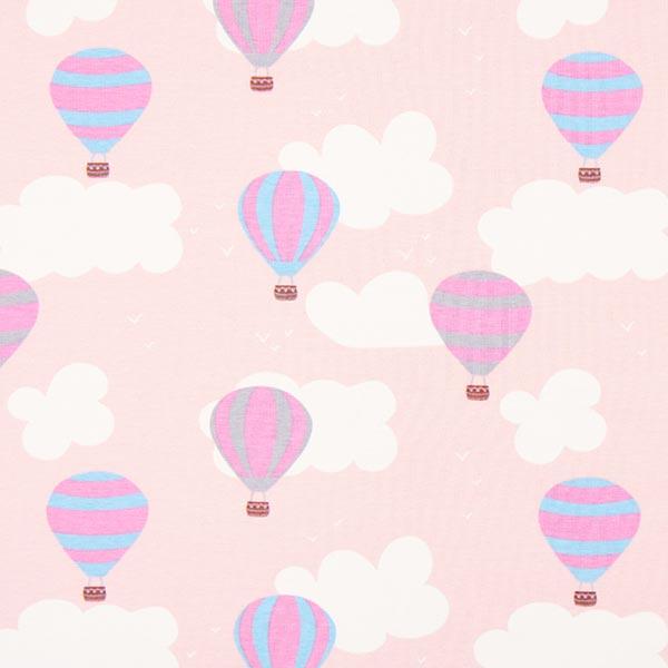 Jerseystoff Heißluftballon – rosa - Kinderstoffe Mädchen- stoffe.de