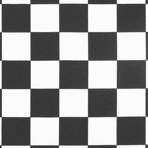 Baumwollstoff Schachbrettmuster Karo – schwarz/weiss – Muster