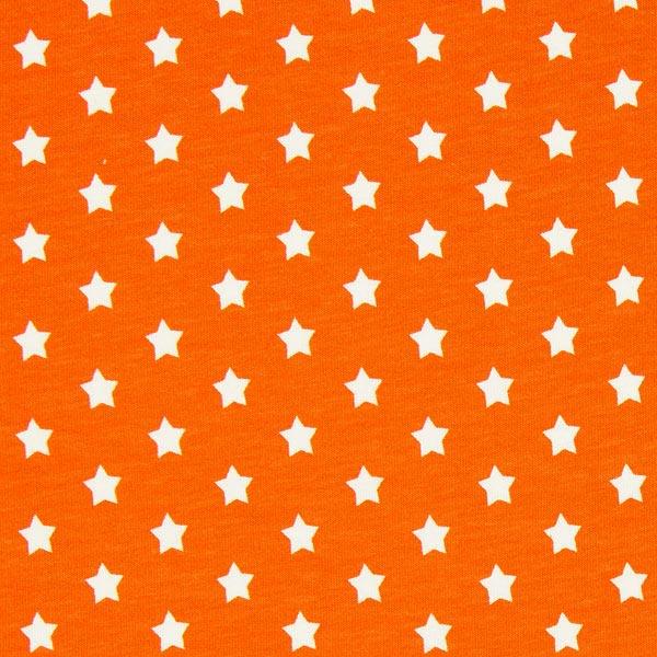 Baumwolljersey kleine Sterne - orange