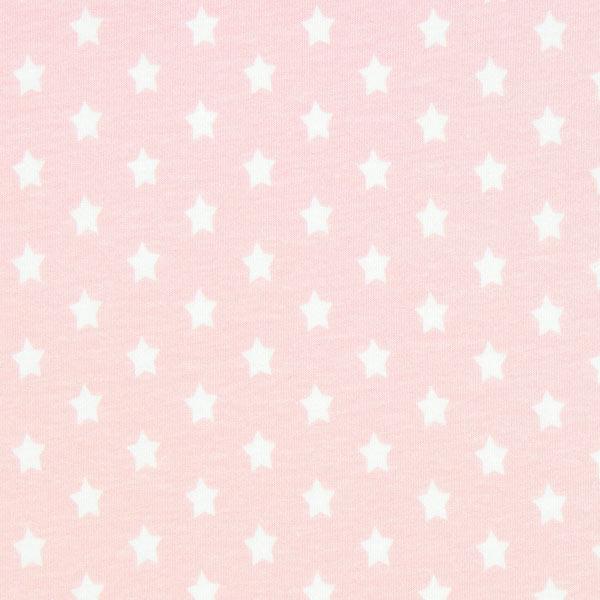 Baumwolljersey kleine Sterne - rosa