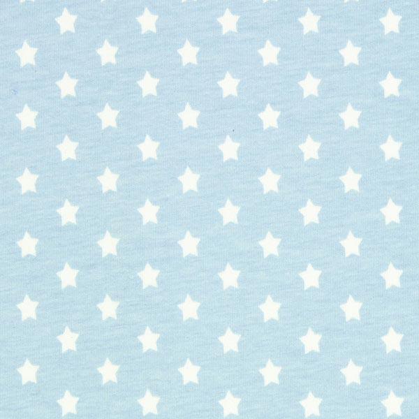 Baumwolljersey kleine Sterne - hellblau