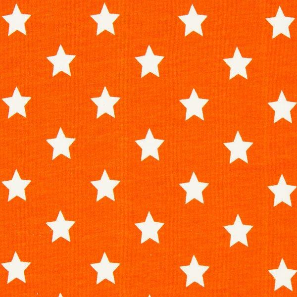 Baumwolljersey große Sterne - orange
