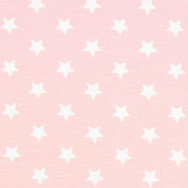 Baumwolljersey große Sterne - rosa