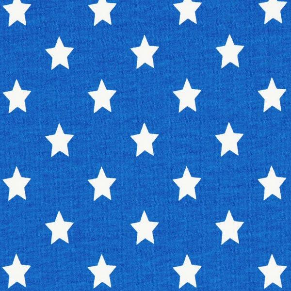 Baumwolljersey große Sterne - königsblau
