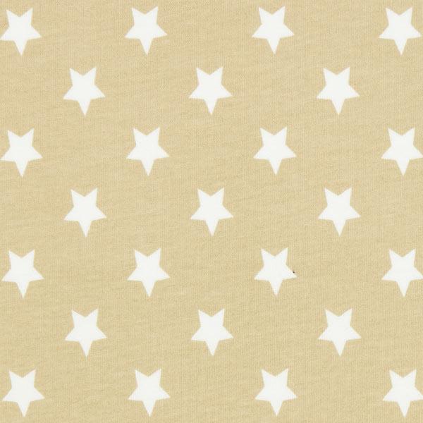 Baumwolljersey große Sterne - beige