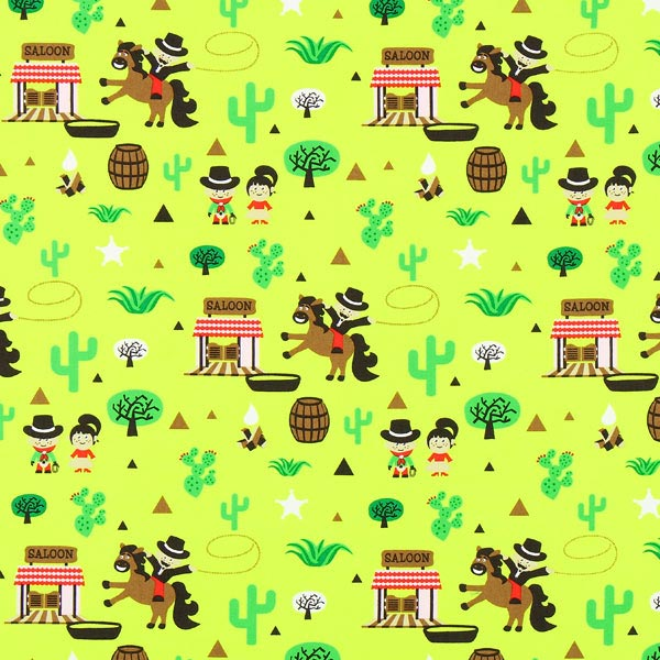 Tula grüne Bio-Baumwolle 'Western'