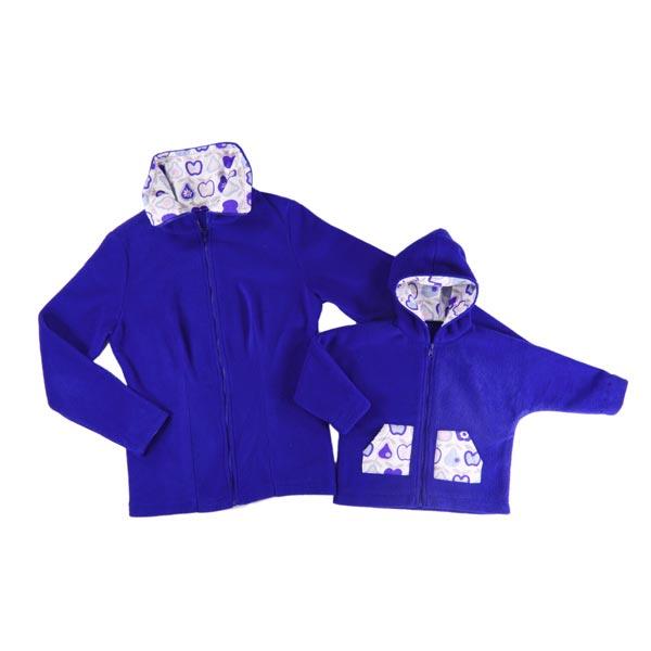 Kit couture veste en polaire maman et enfant