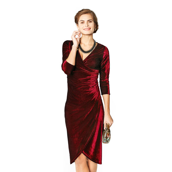 kit couture robe rouge velours stretch kits couture