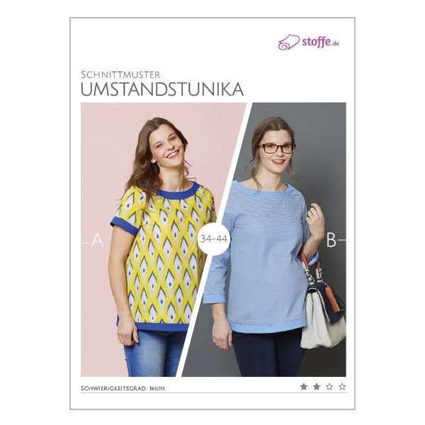 Schnittmuster Umstandstunika - Schnittmuster Umstandsmode- stoffe.de
