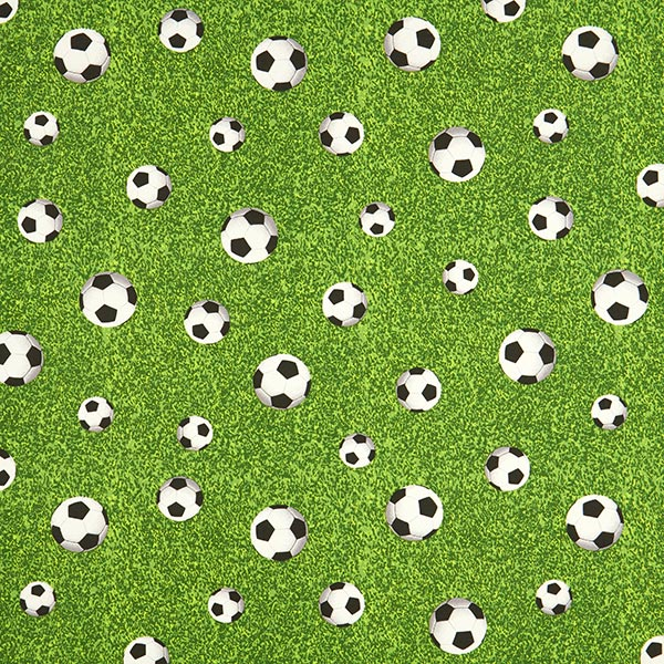 Tissu de décoration ottomane Ballon de foot \u2013 vert