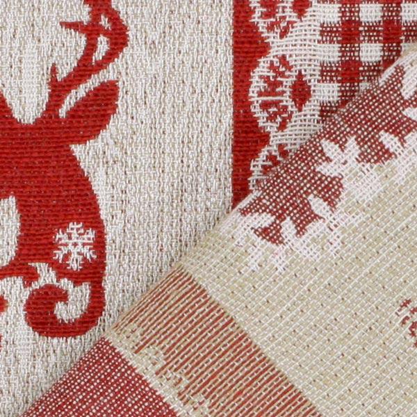 jacquard rayures cerf tissus de no l. Black Bedroom Furniture Sets. Home Design Ideas