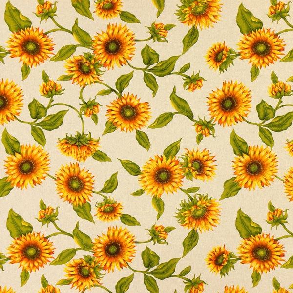 Dekostoff Natur – Sonnenblume - Kissen- & Deckenstoffe- stoffe.de