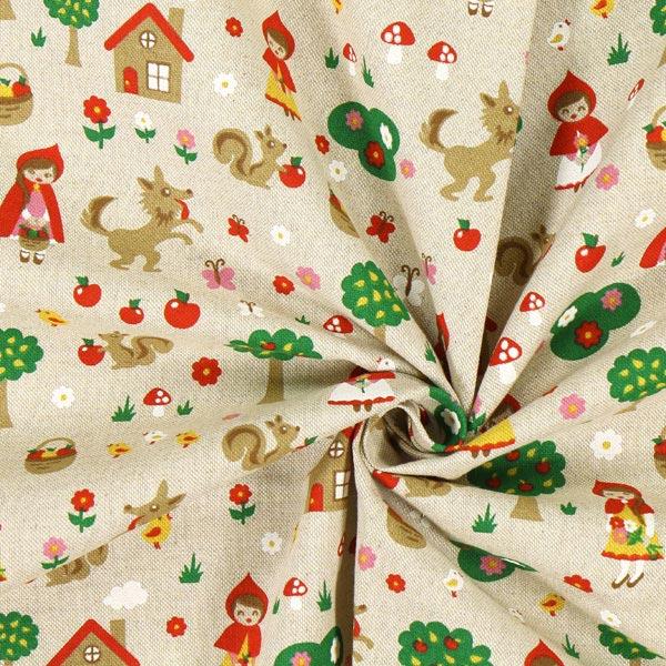 tissu de d coration nature petit chaperon rouge tissus pour coussins et plaids. Black Bedroom Furniture Sets. Home Design Ideas
