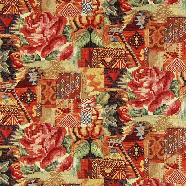 Gobelin Azteken - rotorange - Muster