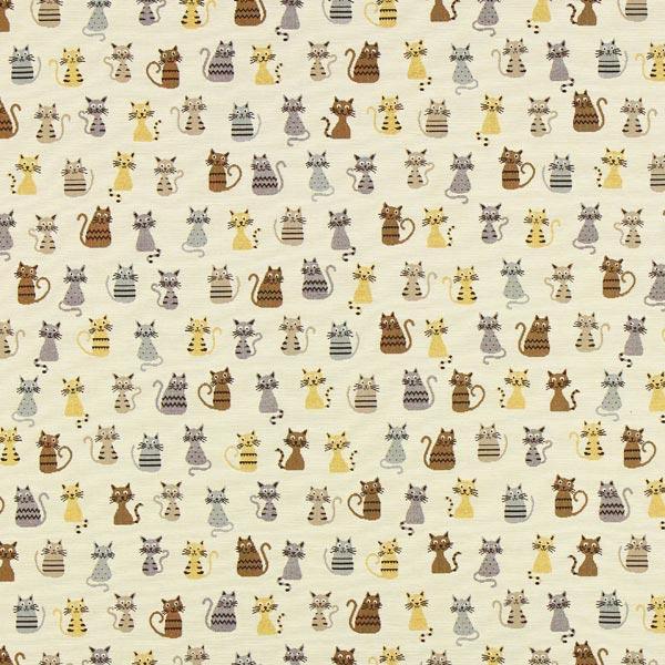 Jacquard Gobelin Katzen – beige