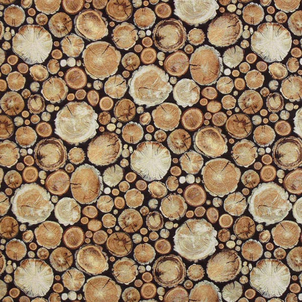 Jacquard Gobelin Baumstümpfe – braun – Muster