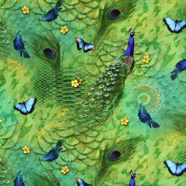 Peacock Restes De Tissus Tissus Net
