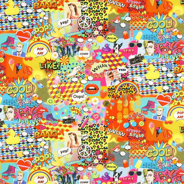 Tessuto arredo cotone 2 graffiti pop art tessuti for Arredamento pop art