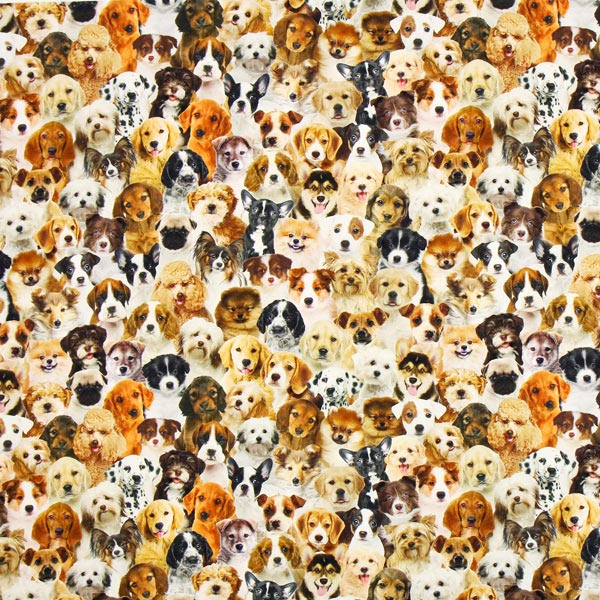 Halbpanama Hundewelpen – braun – Muster