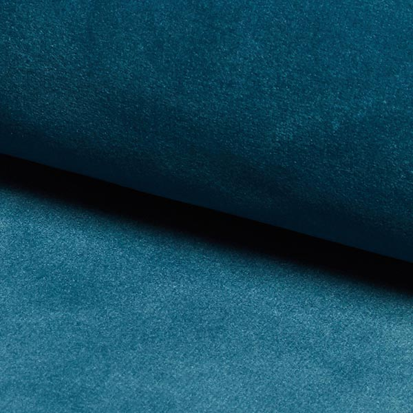 Tessuto per rivestimento e tappezzerie bluvel petrolio for Cretonne per arredamento e tappezzerie