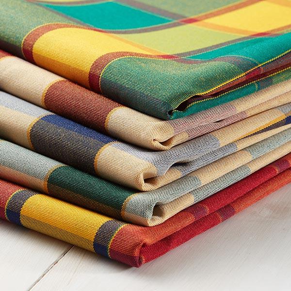 tissu de d coration ext rieur teflon carreau vert tissus pour ext rieur. Black Bedroom Furniture Sets. Home Design Ideas