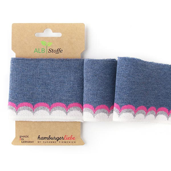 Jeansblaues Strickbündchen 'Cuff Me' aus Bio-Baumwolle